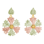 Black Hills Gold Classic Snowflake Earrings for Pierced Ears