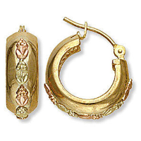 Black Hills Gold Earwire Earrings for Pierced Ears