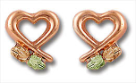 Black Hills Gold Heart Earrings
