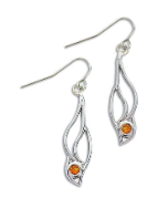 Sterling Silver Earrings with Yellow Montana Sapphire
