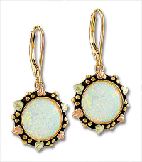 Black Hills Gold Opal Earrings