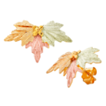 Black Hills Gold Classic Earrings with Leaves, for Pierced Ears