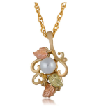 Black Hills Gold Pearl Pendant Necklace