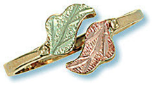 Black Hills Gold adjustable Toe Ring and Leaves