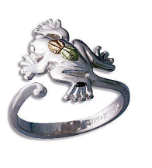 Sterling Silver Frog Toe Ring