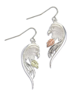 Sterling Silver Eagle Earrings for Pierced Ears