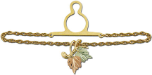 Black Hills Gold Tie Chain with Leaves