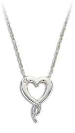 D. Sterling Silver Diamond Heart Pendant
