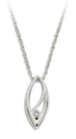 G. Sterling Silver Diamond Pendant