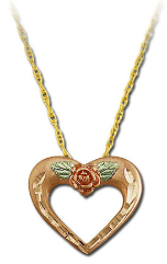 Black Hills Gold Mothers Pink Gold Heart Pendant