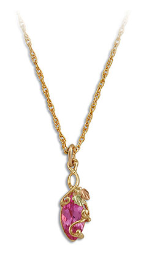 Black Hills Gold Necklace with Rose Zircon Pendant