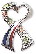Support America Ribbon Tie Tack / Lapel Pin