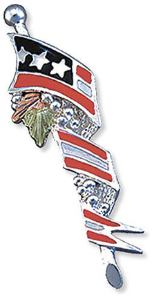 Support America American Flag Tie Tack / Lapel Pin