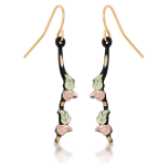 Black Hills Gold Earrings with Leaves
