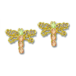 Black Hills Gold Dragonfly Earrings