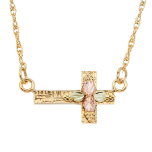 Black Hills Gold Sideways Cross Necklace