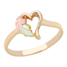 Black Hills Gold Ladies Heart Ring
