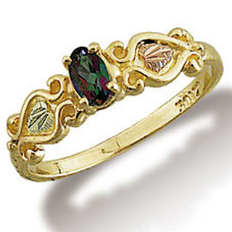 Ladies Mystic Fire Topaz Ring, Black Hills Gold