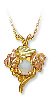 Black Hills Gold Traditional Opal Pendant