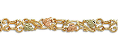 Black Hills Gold Bracelet with Leaves