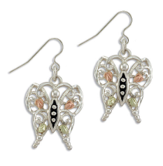 Black Hills Silver Butterfly Earrings