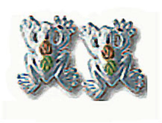 Sterling Silver Frog Earrings for Pierced Ears