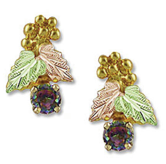 Mystic Fire Topaz Earrings, in Black Hills Gold