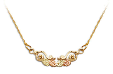 Black Hills Gold Necklace with Leaves