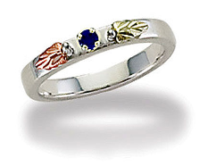 Black Hills Silver Mothers Ring with Birthstones, Stackable!