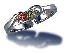 Sterling Silver Adjustable Toe Ring with Leaves