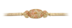 Black Hills Gold Bracelet with Leaves and Grapes