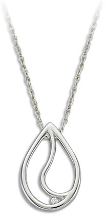 C. Sterling Silver Diamond Pendant