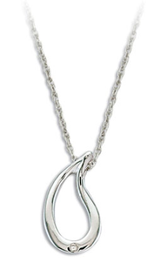 F. Sterling Silver Diamond Pendant