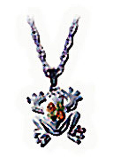 Sterling Silver Frog Pendant