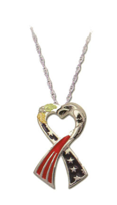 Support America Ribbon Pendant