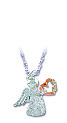 Sterling Silver Angel Pendant with Heart