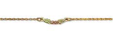 Black Hills Gold Ankle Bracelet with Leaves