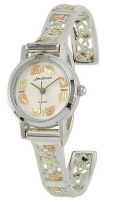 Landstroms Ladies Gold on Sterling Silver Watch and Cuff Band