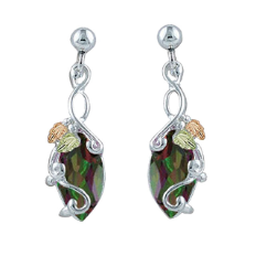 Mystic Fire Topaz Earrings, in Black Hills Silver