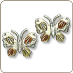 Black Hills Silver Butterfly Earrings (SKU: 01646SS)