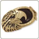 Men's Black Hills Gold Onyx Ring with Eagle's Head (SKU: 02868)