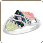 Ladies Mystic Fire Topaz Ring, in Sterling Black Hills Silver (SKU: 02874SS-471)