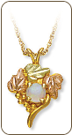 Black Hills Gold Traditional Opal Pendant (SKU: 03307)