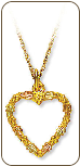 Black Hills Gold Heart Pendant (SKU: 03566)