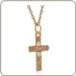 Black Hills Gold Cross Pendant (SKU: 03602)