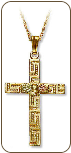 Black Hills Gold Cross Pendant (SKU: 03696)