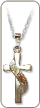 Black Hills Silver Cross Necklace (SKU: 03731SS)