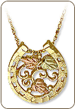 Black Hills Gold Horseshoe Pendant (SKU: 03758)