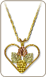 Black Hills Gold Heart Pendant (SKU: E322)