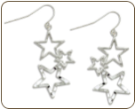Sterling Silver Star Earrings (SKU: ER1041SS)